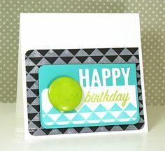 Mod Birthday card by Debbie Carriere