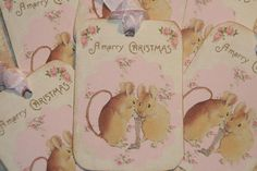 Christmas Mice Tags Christmas Gift Tags Merry by GreenAcresCottage