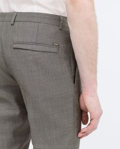 Image 4 of WOOL TROUSERS from Zara