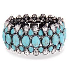 Turquoise Stone Stretch Bracelet