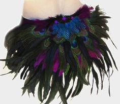 Peacock Feather Tribal Belly Dance Booty shorts
