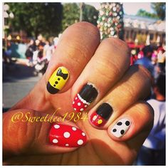 Disney nails. The happiest nails on earth at the happiest place on earth!