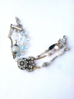 Rhinestone Romantic Vintage Charm Bracelet