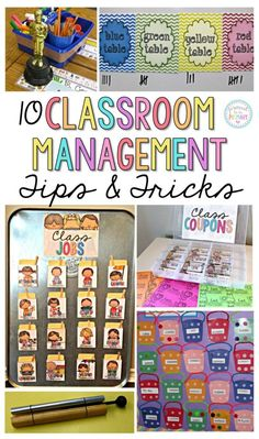 Classroom Management ideas that will make your classroom run smoother? Check out these 10 positive classroom management tips and tricks that have been tried, tested, and WORK in elementary classrooms! PLUS kids love these activities! Classroom Management Strategies, Classroom Procedures, Classroom Organisation, Teacher Organization, Teacher Tools, Kindergarten Classroom Management, Teacher Binder, Preschool Behavior Management, Positive Behavior Management