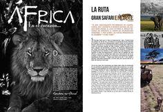 Maquetación Vangard Magazine by María Moreno, via Behance