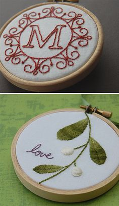 Decorative embroidery hoops