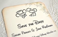 Mouse Ears Wedding Save the Date cards  by LovelyLittlePaperie
