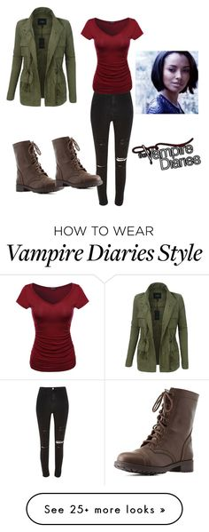 """""""Get the look:Bonnie Bennett"""" by ezikegirl0103 on Polyvore featuring LE3NO, River Island and Charlotte Russe"""