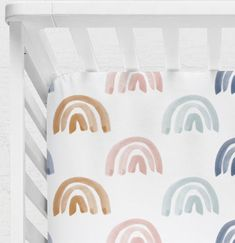 Fantastic baby nursery information are offered on our site. Take a look and you wont be sorry you did. Rainbow Bedding, Rainbow Nursery Decor, Rainbow Room, Rainbow Baby, Nursery Banner, Baby Girl Bedding Sets, Baby Crib Sheets, Baby Cribs, Baby Crib Bedding