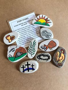 Let your child tell the Easter Story in his/her own words! These Story Stones are a meaningful way to celebrate Easter beyond all the candy and egg hunts... this set of Easter images helps remind children of the reason that Easter is celebrated: the Resurrection of Christ! Story Stones
