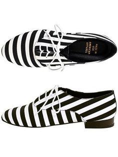 American Apparel Black and White Medium Stripes