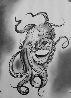Octopus Tattoo Sleeve, Nautical Tattoo Sleeve, Kraken Tattoo, Kraken Art, Octopus Tattoo Design, Octopus Tattoos, Leg Sleeve Tattoo, Best Sleeve Tattoos, Octopus Sketch