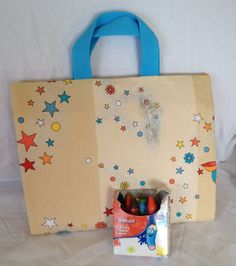 Activity Carry Busy Bag in Sparkly Butterfly and by RectoryCrafts