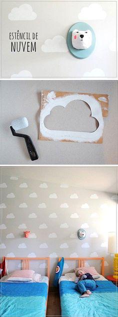 Pintar con nubes el cuarto infantil #diy #kidsroom #unamamanovata ▲▲▲ www.unamamanovata.com ▲▲▲