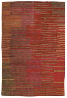 Tufenkian Timpa Righe Red Curry Area Rug