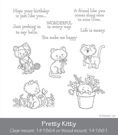 Cheap clear stamps, Buy Quality transparent clear silicone stamp directly from China clear silicone stamp Suppliers: Cat Transparent Clear Silicone Stamp/Seal for DIY scrapbooking/photo album Decorative clear stamp sheets Scrapbooking Photo, Diy Scrapbook, Pretty Cats, Pretty Kitty, Stampin Up, Stampin Pretty, Paper Art, Paper Crafts, Cat Cards