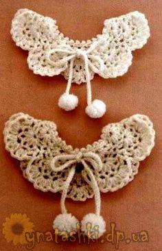 Children knitted collar Crochet Crop Top, Love Crochet, Crochet Motif, Crochet For Kids, Diy Crochet, Crochet Flowers, Crochet Baby, Knitting For Kids, Baby Knitting Patterns