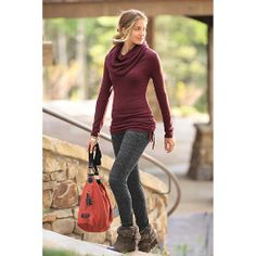 Hoodwink Tunic Sweater - The super-soft, lightweight wool jersey sweater with adjustable tie-ruching at the sides (wear it full length over leggings as a micro-mini dress).