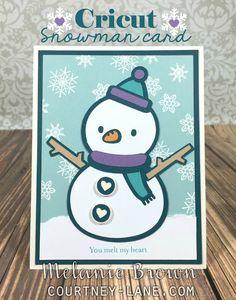 Cricut snowman card