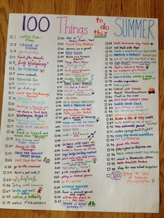 This is our list of 100 Fun Things To Do This Summer.  It will help keep me accountable so we don't let the summer slip through our fingers!