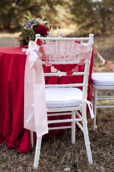 Wedding Chair Decor - PHOTO SOURCE • TARA LIEBECK PHOTOGRAPHY