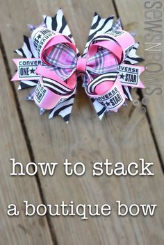 How To Stack A Boutique Bow ~ Sews n Bows