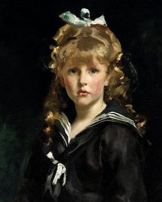 Portrait Of A Girl...Portrait of Jacques Bareton paint by the American artist John Singer Sargent (1856-1925)