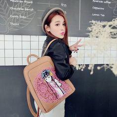Amazon.com: Women's Ethnic Vintage PU Backpack Knapsack Khaki Backpack for college: Clothing