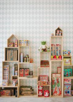 Unusual shelves for child's room