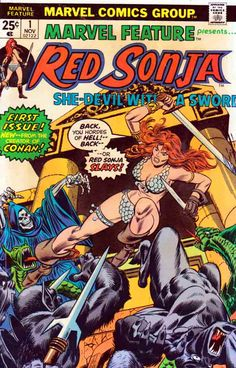 Marvel Feature #1 Gil Kane Cover. Dick Giordano Pencils. Roy Thomas Story. The Temple of Abomination! Reprints 'Red Sonja' from Savage Sword of Conan Magazine #1 in color, plus a new story 'The Temple of Abomination'