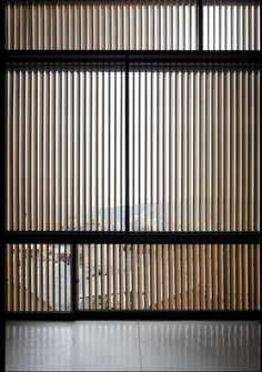 Florian Busch Architects have designed an apartment building which translates the horizontal sequence of Kyoto encounters into the vertical facade. Metal Facade, Wooden Facade, Facade Design, Exterior Design, House Design, Minimalist Architecture, Facade Architecture, Tropical Architecture, Timber Screens