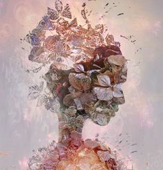Bojan Jevtić digital art woman hair surreal