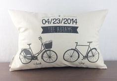 Names and Bikes Personalized Pillow