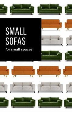 The search for sofas that fit into a small space is a long and frustrating one. They are either too big, too wide or too deep. Fortunately we've curated an edit of the best small sofas; from compact two seaters, to squishy sectionals, sofa beds, slimline and storage sofas.