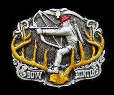 BOW ARROW HUNTER HUNTING SEASON BIG GAME BELT BUCKLE BELTS BUCKLES #bowandarrow #hunter #beltbuckle #buckles #hunting