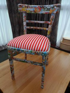 Made over chair, definitely one of the favorite pieces that I made over :)    #AsterixTheGaul #DIY #Chair #HomeDecor