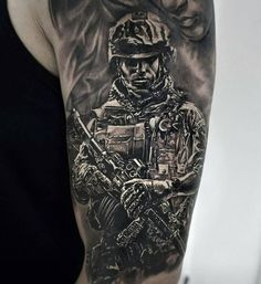 from - Done with equipment and ( Brazil ) Sweet Tattoos, Tattoos For Guys, Cool Tattoos, Awesome Tattoos, Tatoos, Army Tattoos, Military Tattoos, Tattoo Studio, Airsoft
