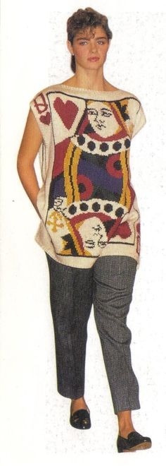 1985 - 'Queen of Heart' sweater by Perry Ellis