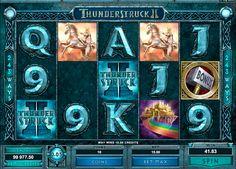 Spiele den mächtigen #Spielautomat Thunderstruck II von #Microgaming gratis!