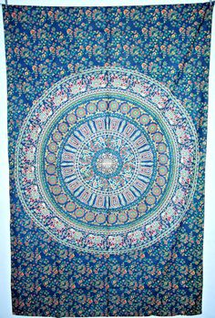 """""""Indian Mandala Tapestry Hippie Dorm Decor by JaipurHandloom, $19.99"""" ... Perfect privacy curtain for bunk"""