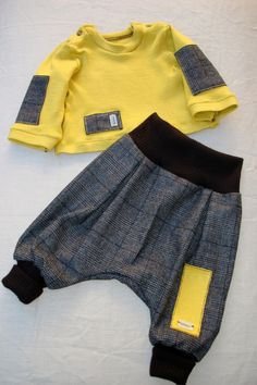 Find the perfect handmade gift, vintage & on-trend clothes, unique jewelry, and more… lots more. Baby Kids Clothes, Doll Clothes, Baby Boy Outfits, Kids Outfits, Sarouel Pants, Colorful Hoodies, Baby Pants, Boys Wear, Baby Kind