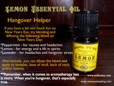 A little hangover helper, in case you over indulge this New Year's Eve...