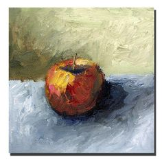 Trademark Art Trademark Fine Art Apple Still Life with Grey and Olive Canvas Art by Michelle Calkins Canvas Wall Art, Canvas Prints, Artist Canvas, Joss And Main, Online Art Gallery, Painting Prints, Paintings, Still Life, Art Pieces