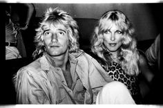 Rod Stewart and Alana Hamilton at Studio 54, 1978. Photo by Anton Perich.