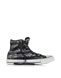Converse Limited Edition All Star Hi Sequins Sneaker in schwarz und silber