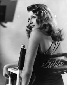 """An old portrait of great actrees #RitaHayworth it in the grand film """"#Gilda"""" of #HollywoodStudios ..."""