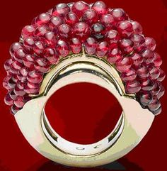 """1948 Daisy Fellowes Ruby Ring by Cartier, circa 1950. She was the daughter of Duke Decazes and Isabelle Singer, and heiress to the famous Singer sewing-machine fortune, Daisy was often considered to be """" the most elegant woman in the world"""" by magazines in the 1920s."""