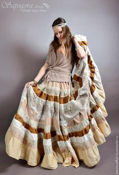 """Купить Длинная юбка-бохо """"Лирика"""" - длинная юбка бохо, бохо юбка макси"""