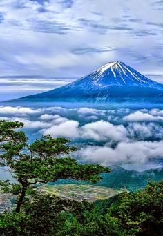 Mount Fuji in Japan is one of Asia's most famous mountains.