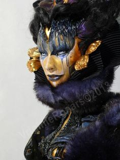 Virginie Ropars's figures are in between sculpture, fashion design and illustration, building up visions sometimes full of wonders, other times strange and Vampire Knight, Vampire Mask, Hd Make Up, Make Up Art, Character Inspiration, Character Art, Character Design, Face Off, Fantasy Makeup